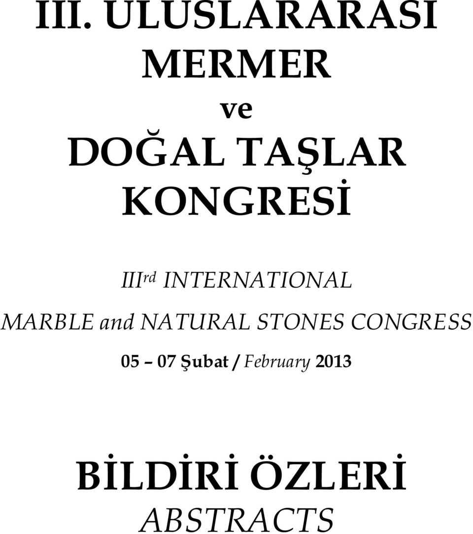 MARBLE and NATURAL STONES CONGRESS 05
