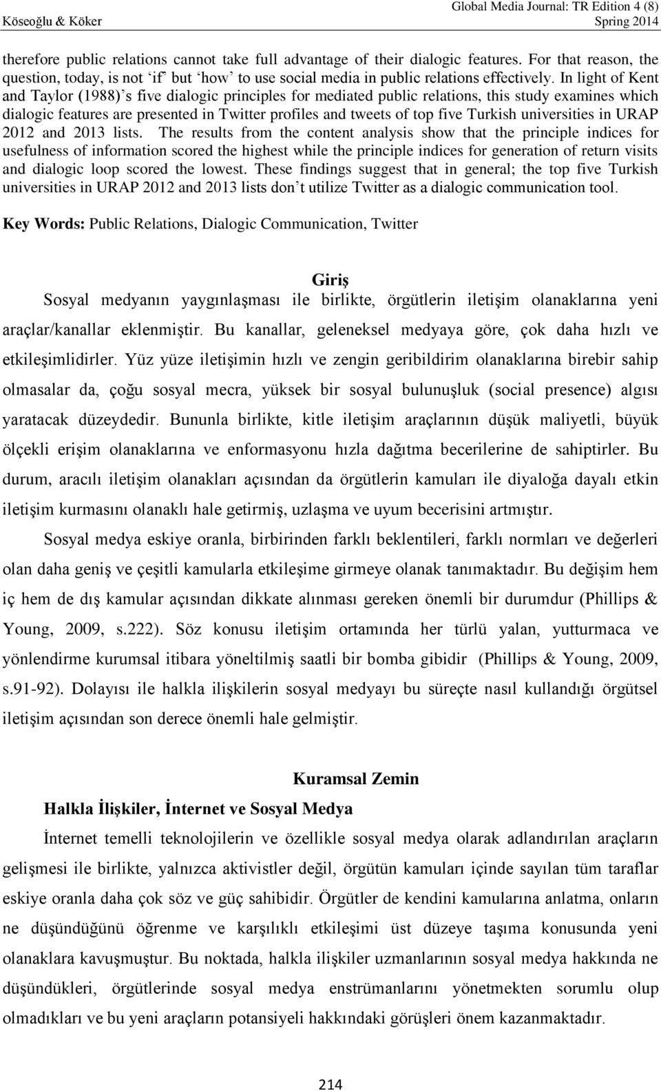 Turkish universities in URAP 2012 and 2013 lists.
