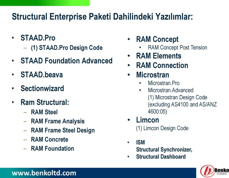 Concept RAM Concept Post Tension RAM Elements RAM Connection Microstran Microstran.Pro Microstran.