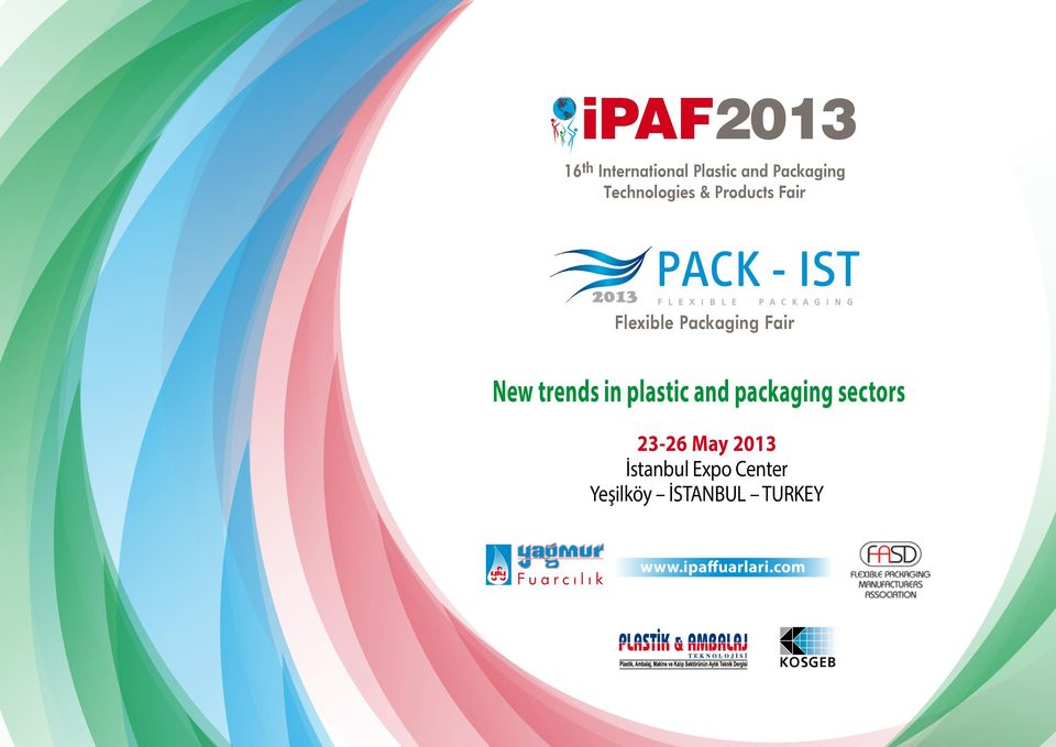New trends in plastic and packaging sectors 23-26 May 2013