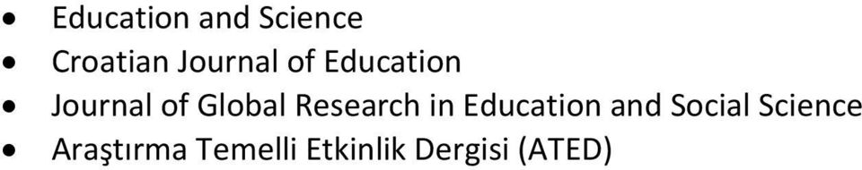 Global Research in Education and