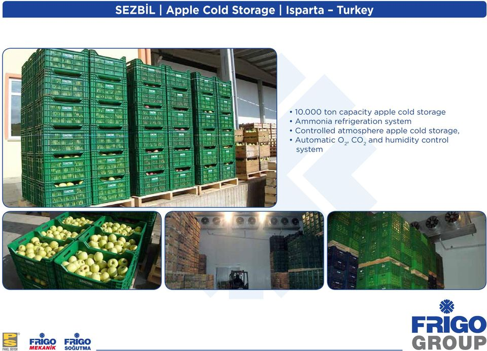 refrigeration system Controlled atmosphere apple