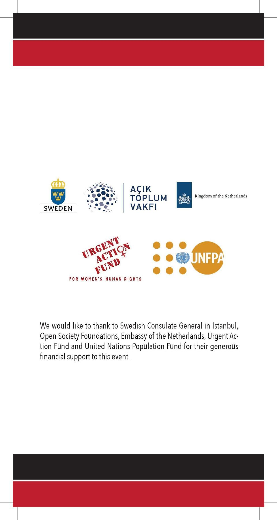 Netherlands, Urgent Action Fund and United Nations