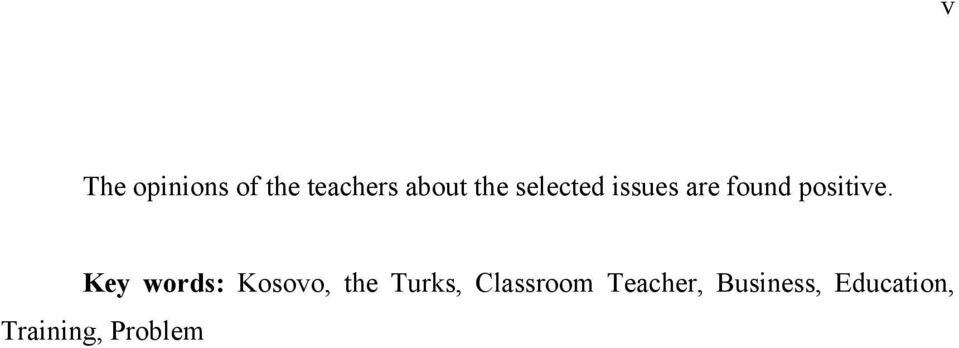Key words: Kosovo, the Turks, Classroom