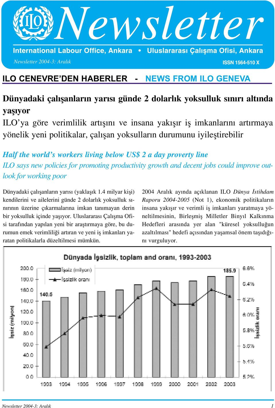 promoting productivity growth and decent jobs could improve outlook for working poor Dünyadaki çal flanlar n yar s (yaklafl k 1.