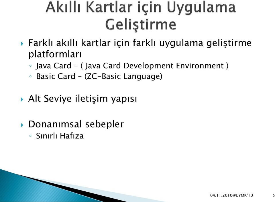 Development Environment ) Basic Card (ZC-Basic