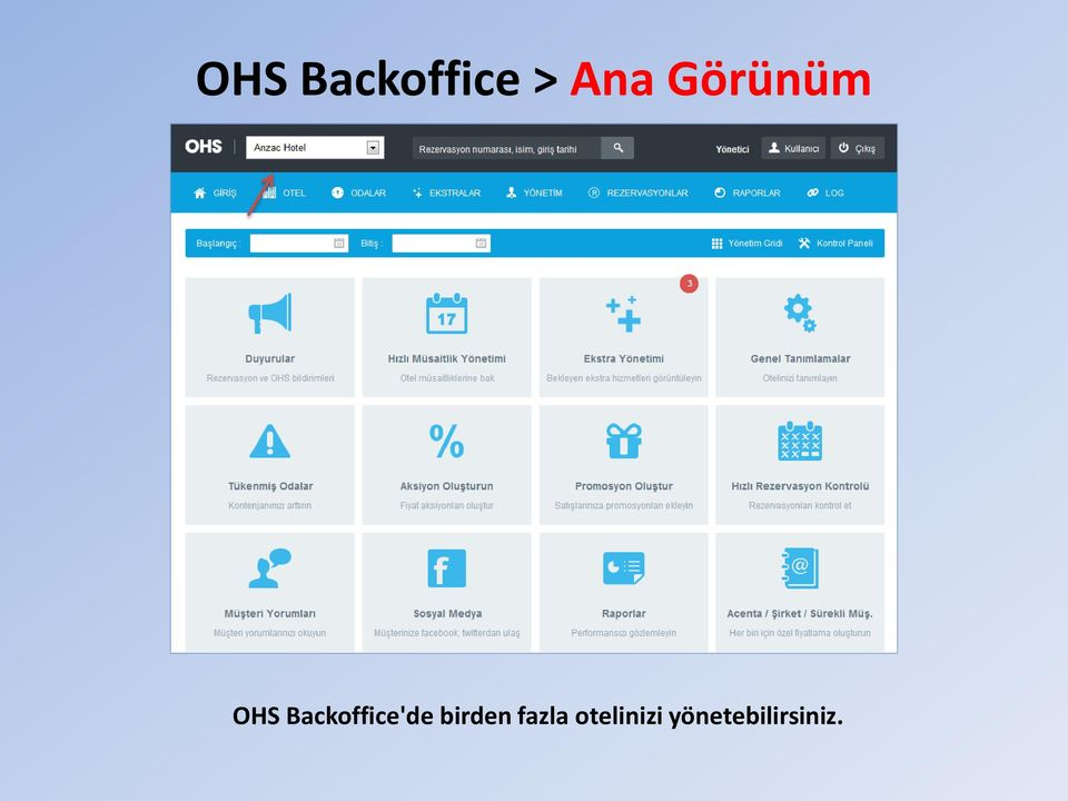 Backoffice'de birden