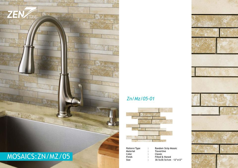 Material : Travertine Color : Classic
