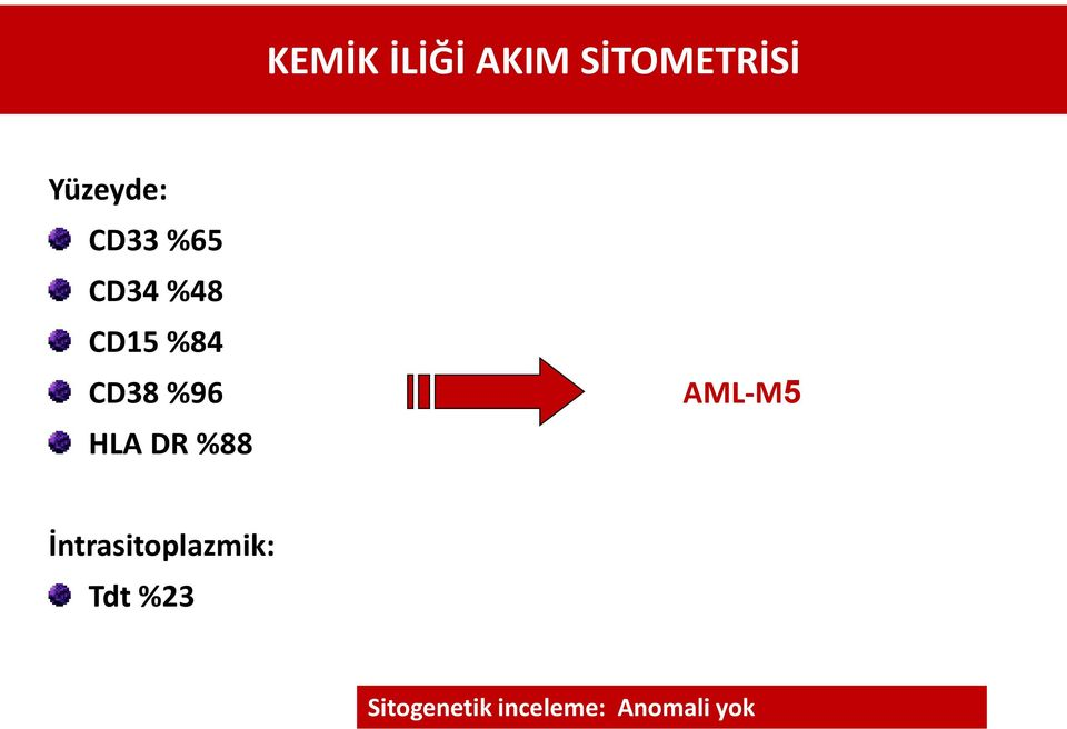 HLA DR %88 AML-M5 İntrasitoplazmik: