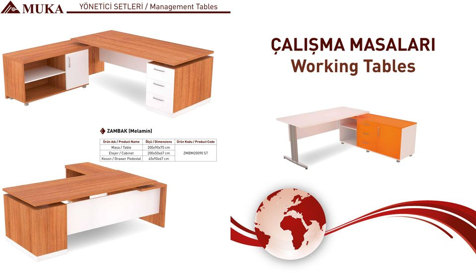 Table 200x90x75 cm Etejer / Cabinet 200x50x67