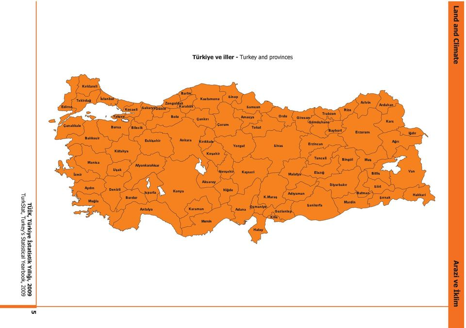 Turkey and provinces