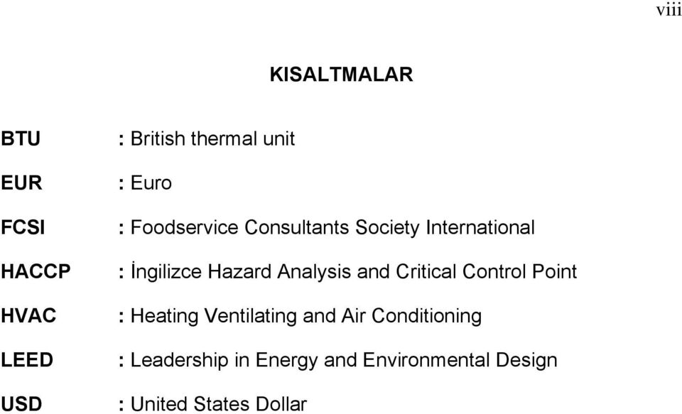 Analysis and Critical Control Point : Heating Ventilating and Air