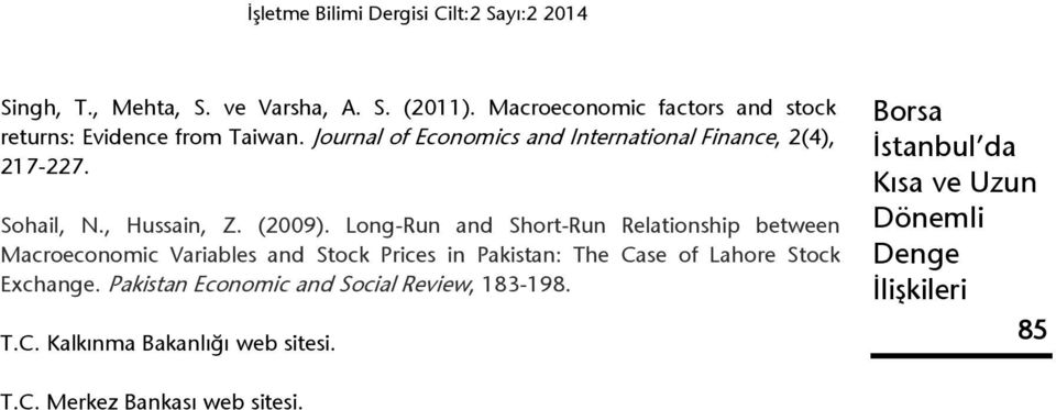 Long-Run and Short-Run Relationship between Macroeconomic Variables and Stock Prices in Pakistan: The Case of