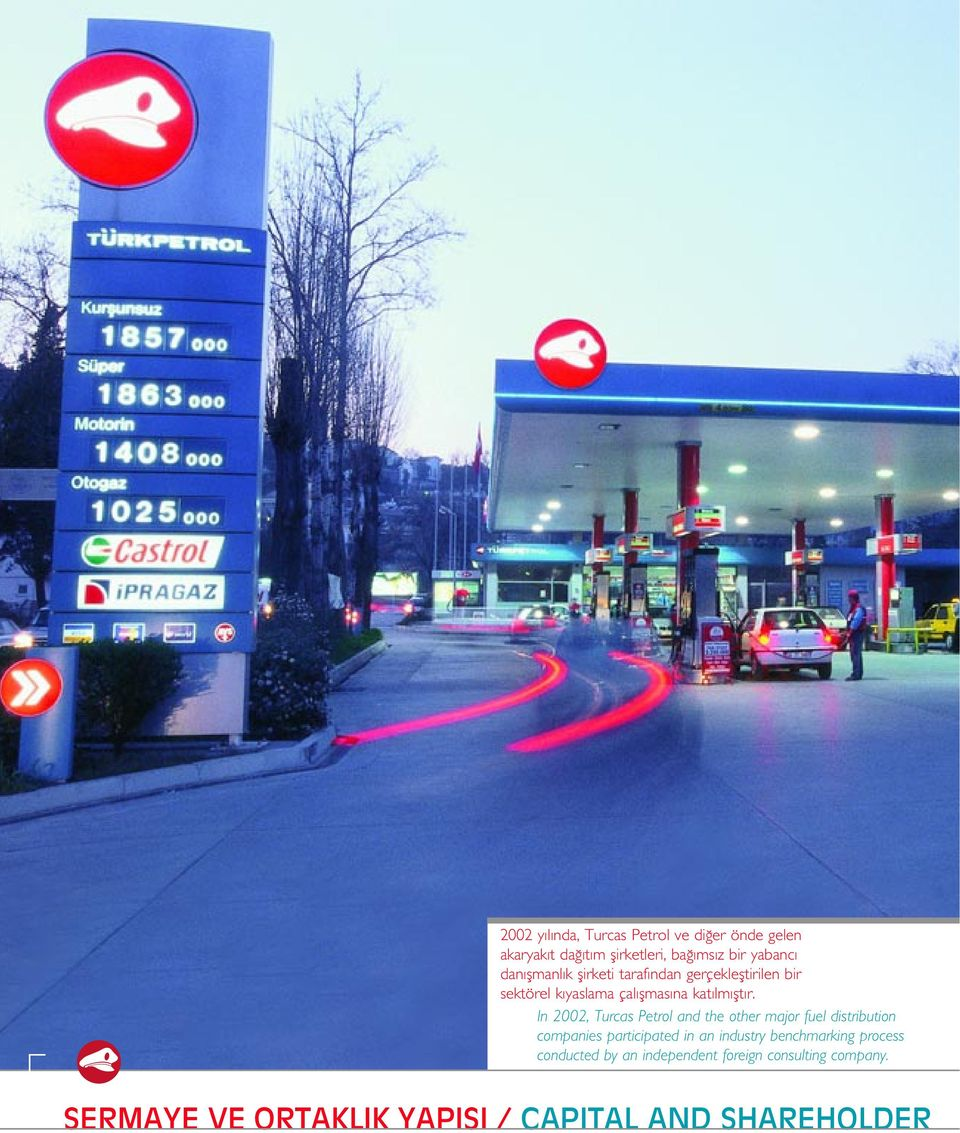 In 2002, Turcas Petrol and the other major fuel distribution companies participated in an industry