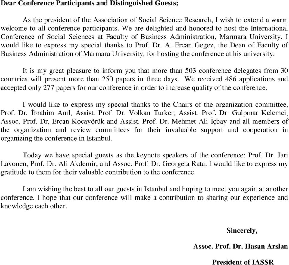 ministrtion, Mrmr University. I would like to express my specil thnks to Prof. Dr. A.