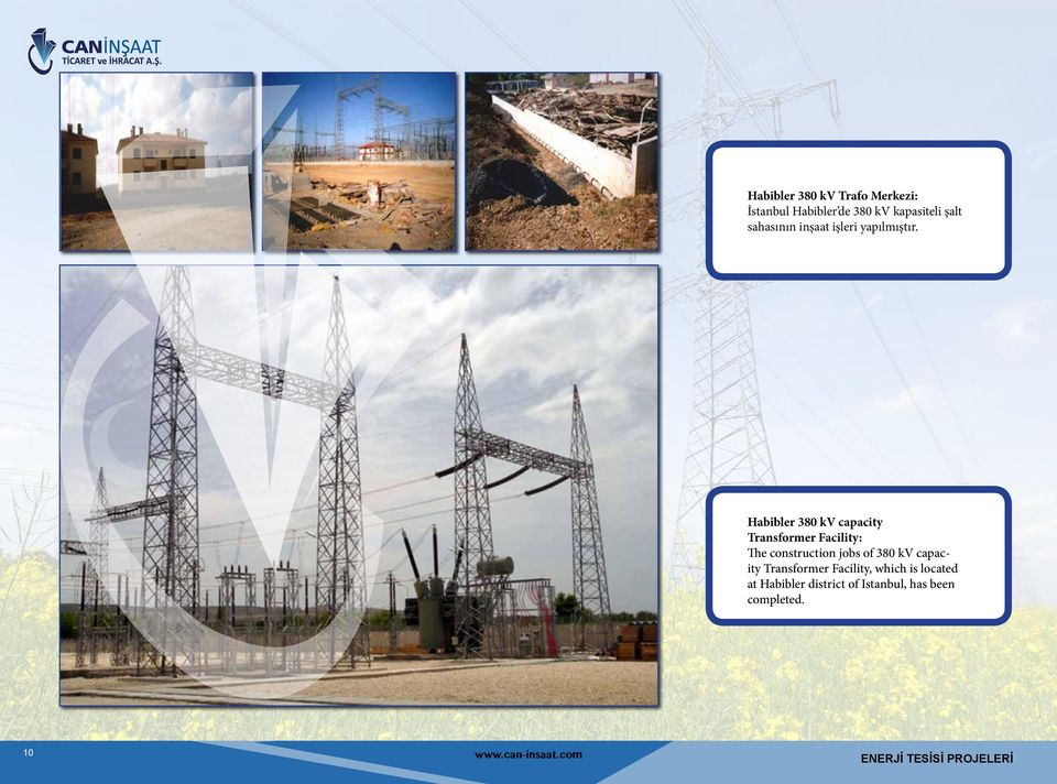 Habibler 380 kv capacity Transformer Facility: The construction jobs of 380 kv