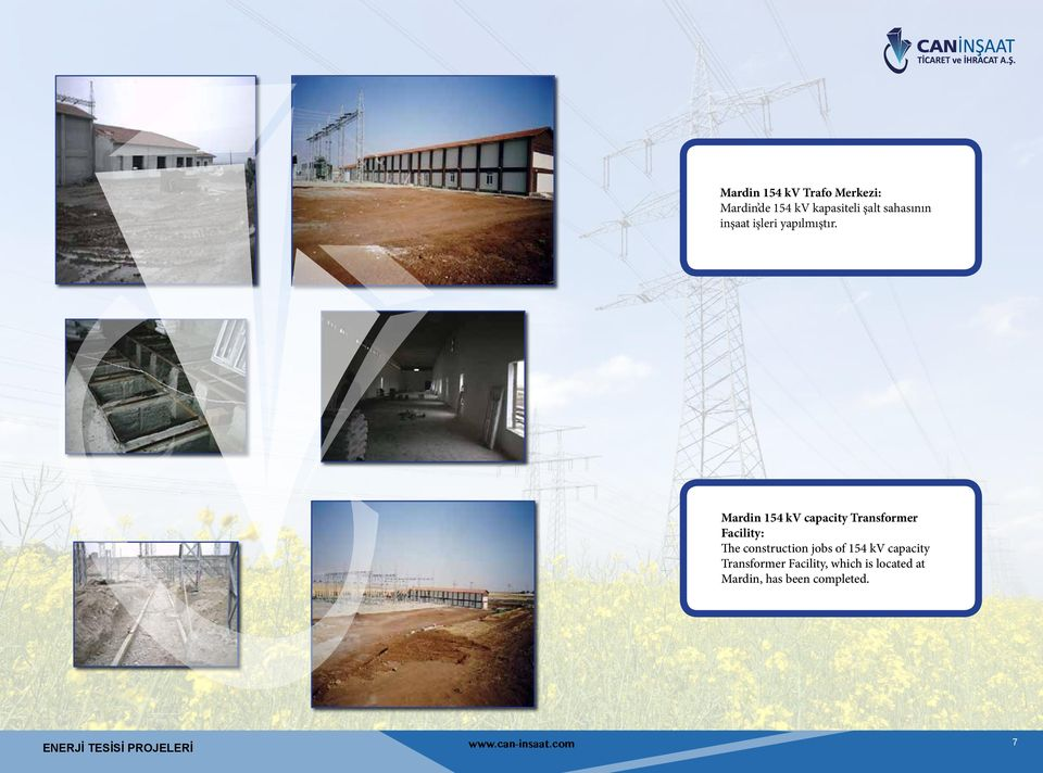 Mardin 154 kv capacity Transformer Facility: The construction jobs of