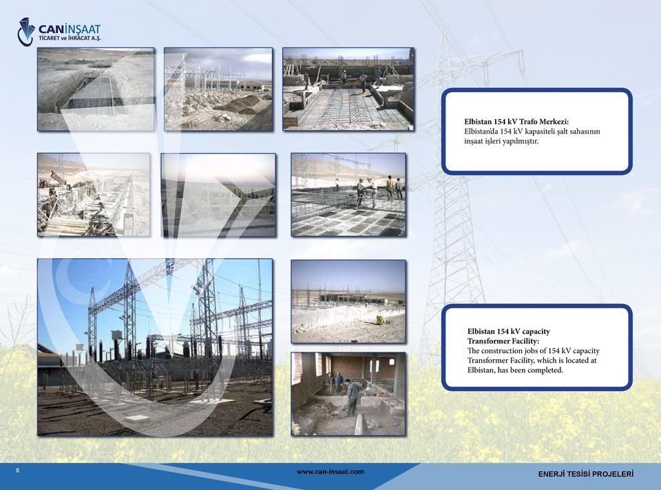 Elbistan 154 kv capacity Transformer Facility: The construction jobs of