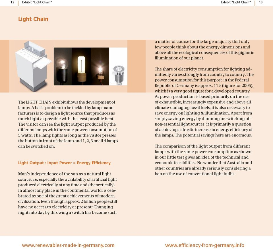 A basic problem to be tackled by lamp manufacturers is to design a light source that produces as much light as possible with the least possible heat.