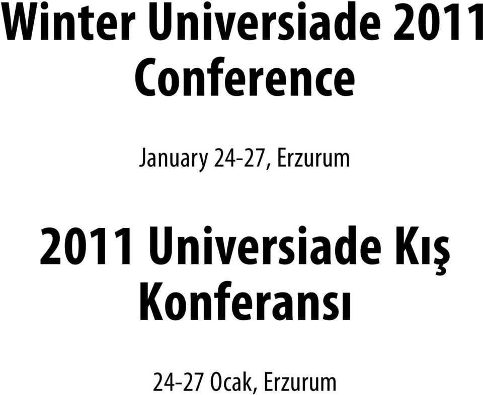 Erzurum 2011 Universiade
