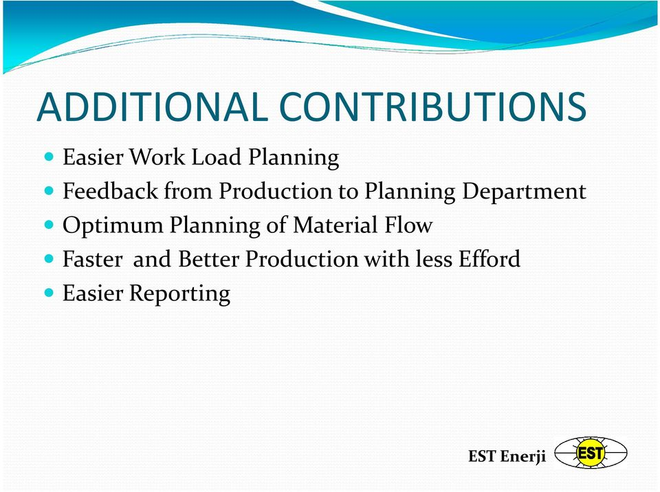 Department Optimum Planning of Material Flow