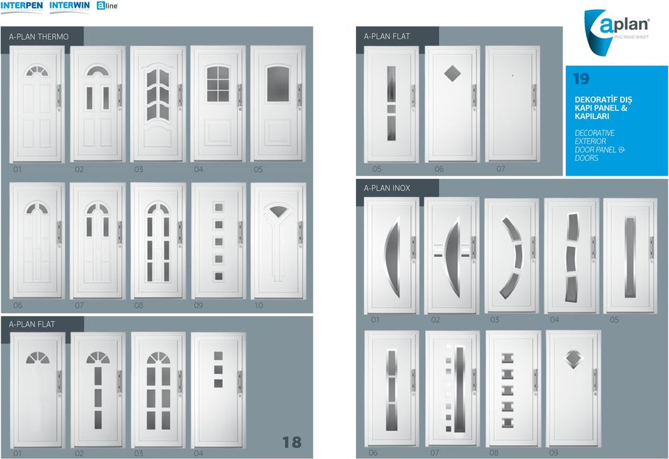 EXTERIOR DOOR PANEL & DOORS A-PLAN INOX 06 07 08 09