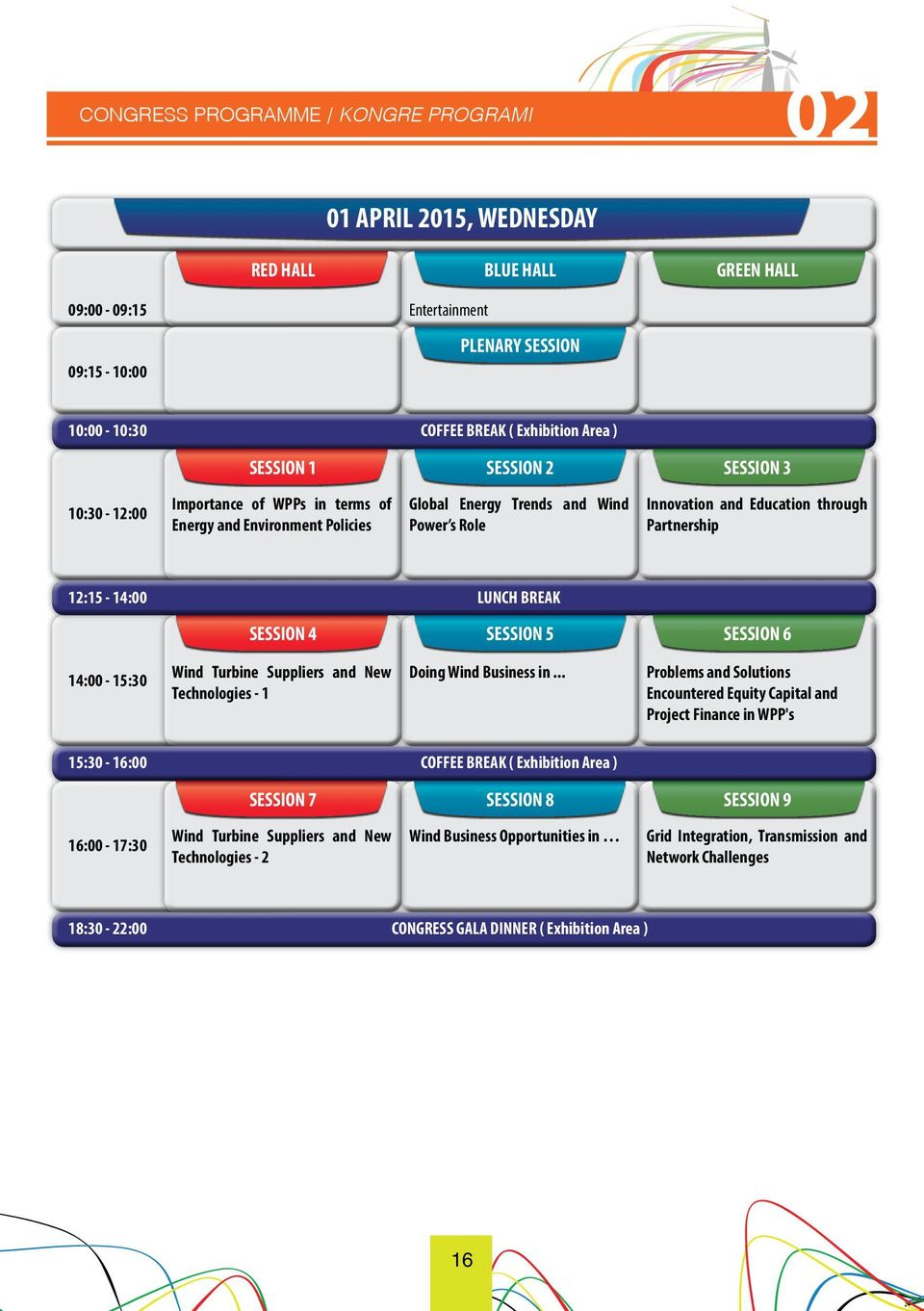 through Partnership 12:15-14:00 LUNCH BREAK SESSION 4 SESSION 5 SESSION 6 14:00-15:30 Wind Turbine Suppliers and New Technologies - 1 Doing Wind Business in.