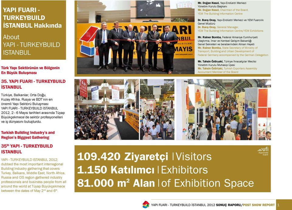 Barış Onay, General Manager, YEM The Building Information Centre/YEM Exhibitions Mr.
