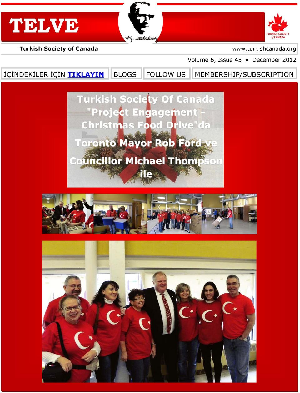 "FOLLOW US MEMBERSHIP/SUBSCRIPTION Turkish Society Of Canada ""Project"