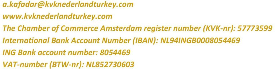 com The Chamber of Commerce Amsterdam register number (KVK-nr):