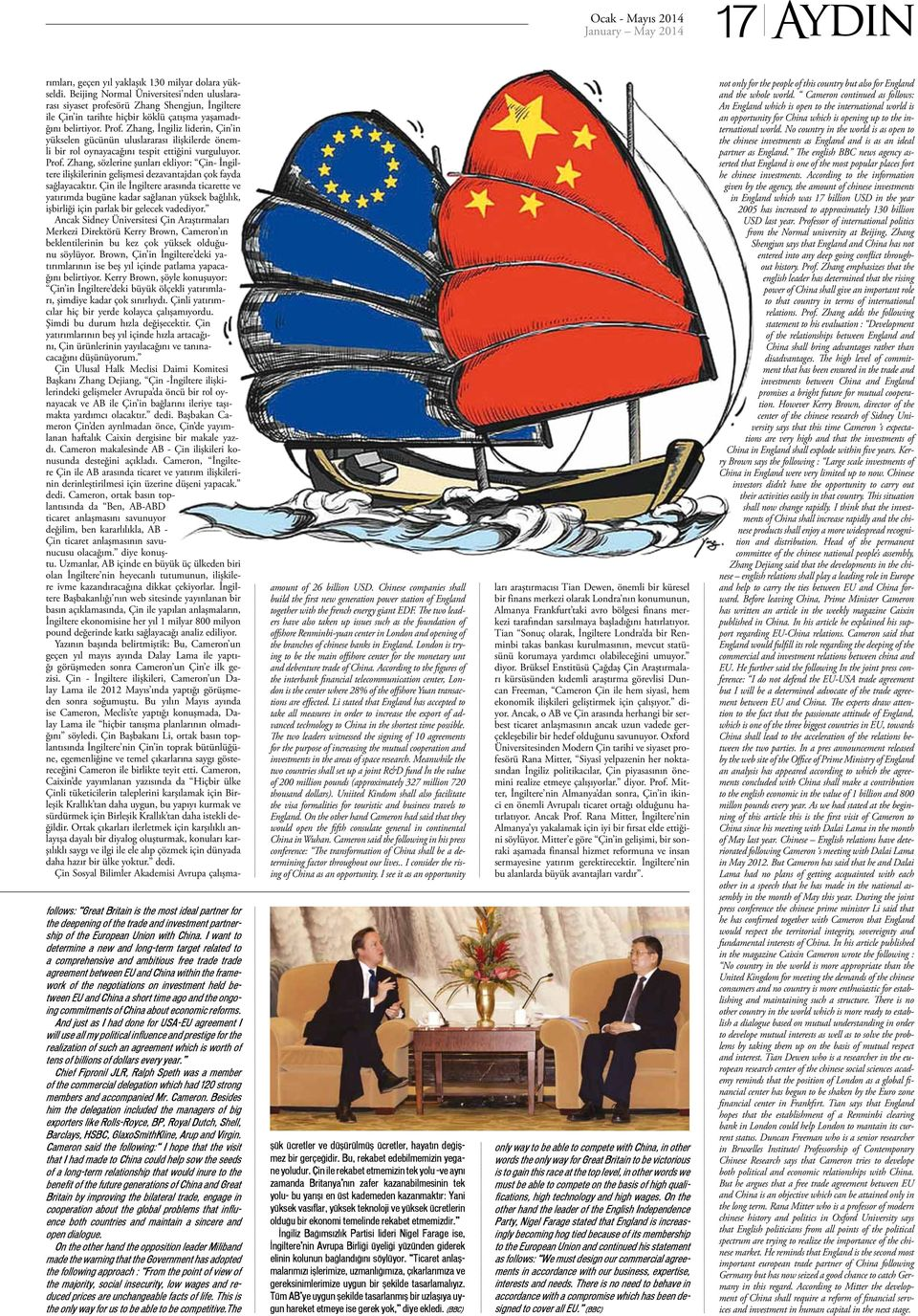 between EU and China a short time ago and the ongoing commitments of China about economic reforms.