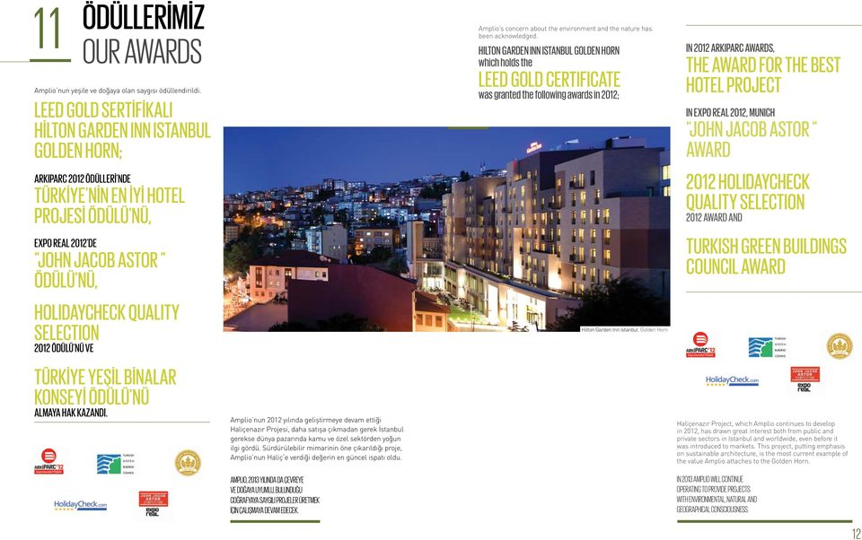 SELECTION 2012 ÖDÜLÜ NÜ VE Amplio s concern about the environment and the nature has been acknowledged.