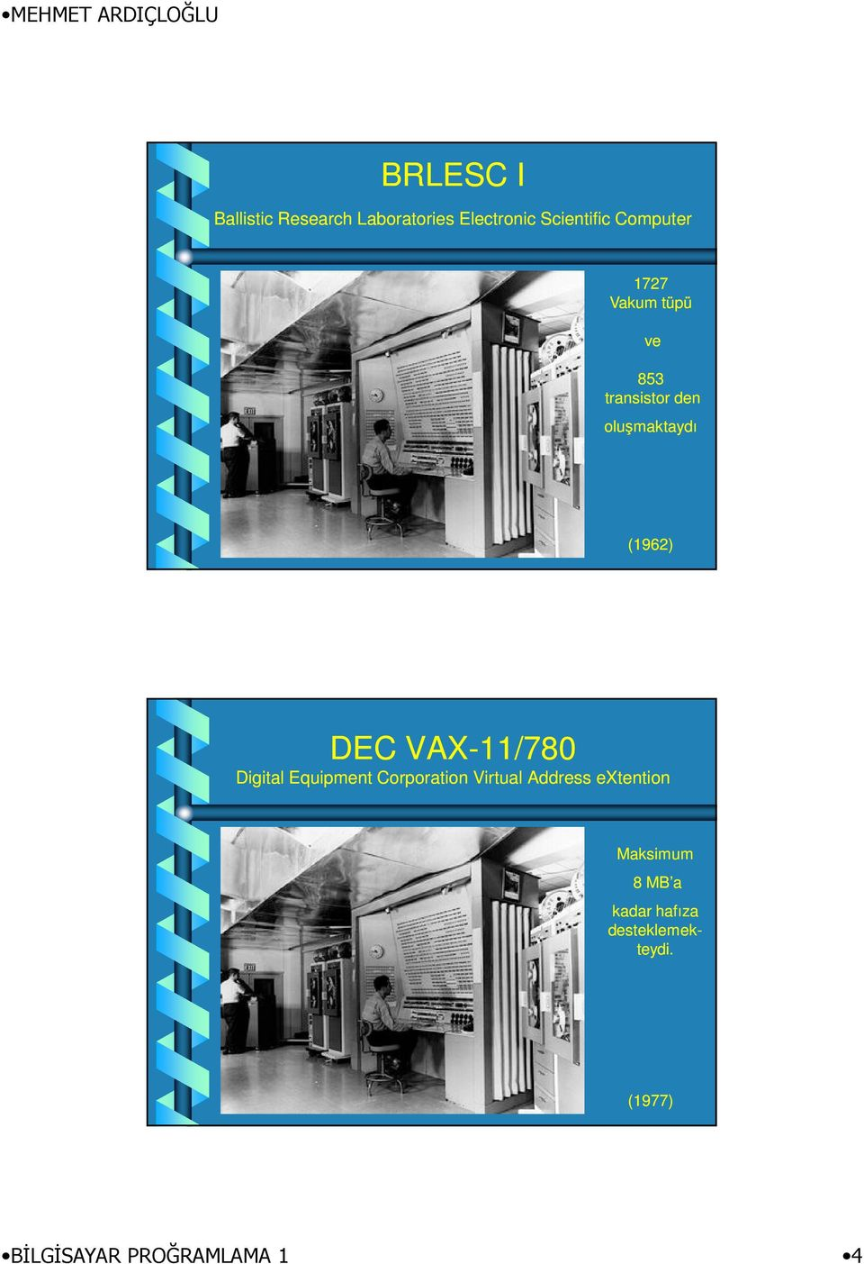 VAX-11/780 Digital Equipment Corporation Virtual Address extention