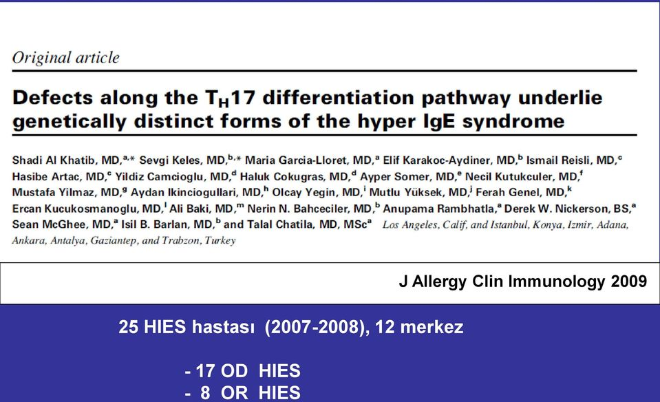 HIES Journal of J Allergy
