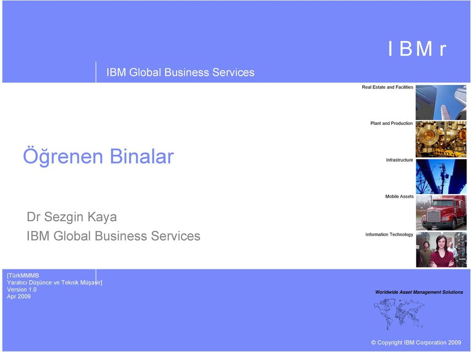 Assets Dr Sezgin Kaya IBM Global Business Services Information