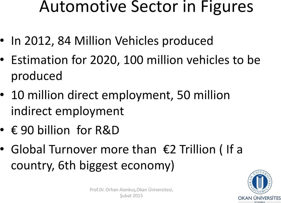 indirect employment 90 billion for R&D Global Turnover more than 2 Trillion ( If a