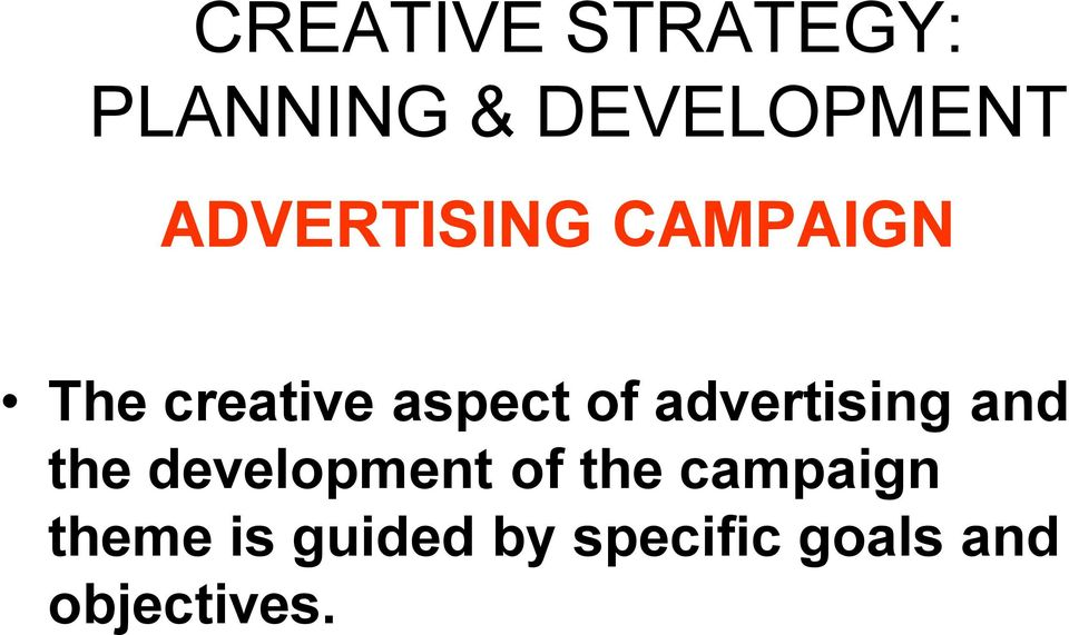 advertising and the development of the