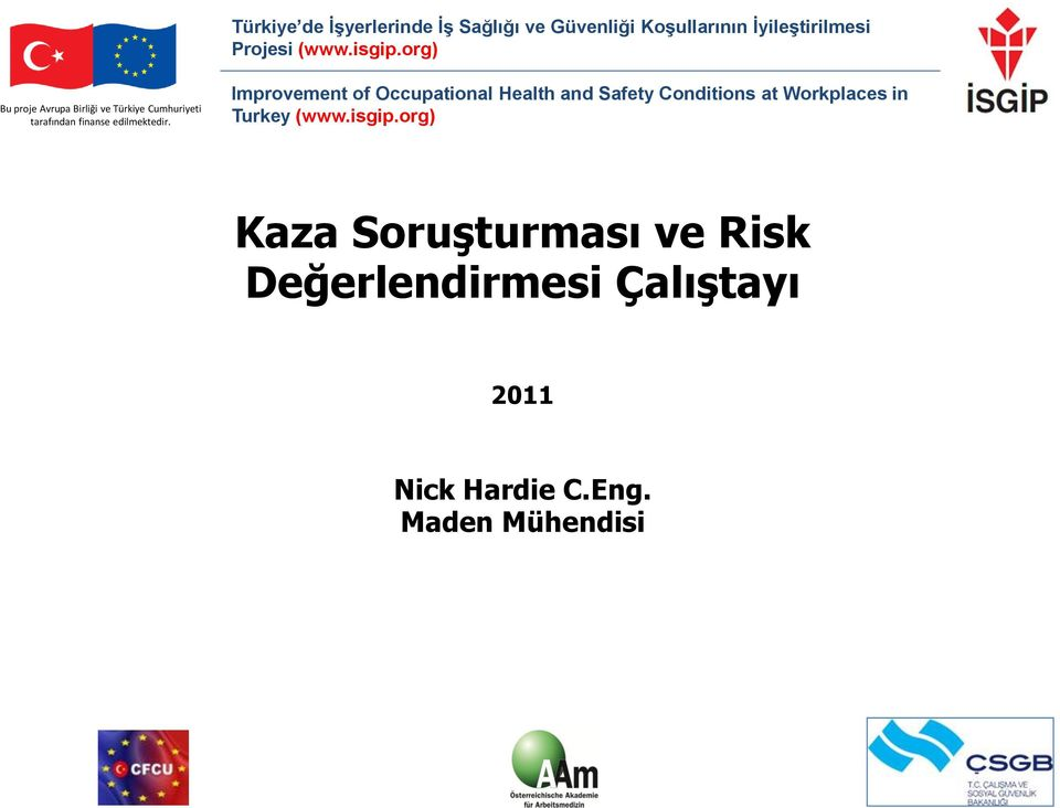 Improvement of Occupational Health and Safety Conditions at Workplaces in Turkey (www.isgip.