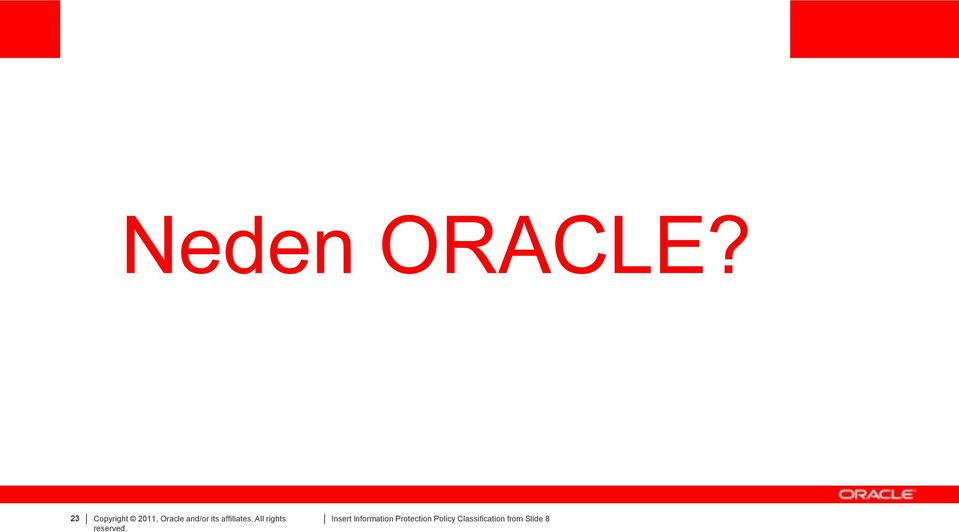 Oracle and/or its
