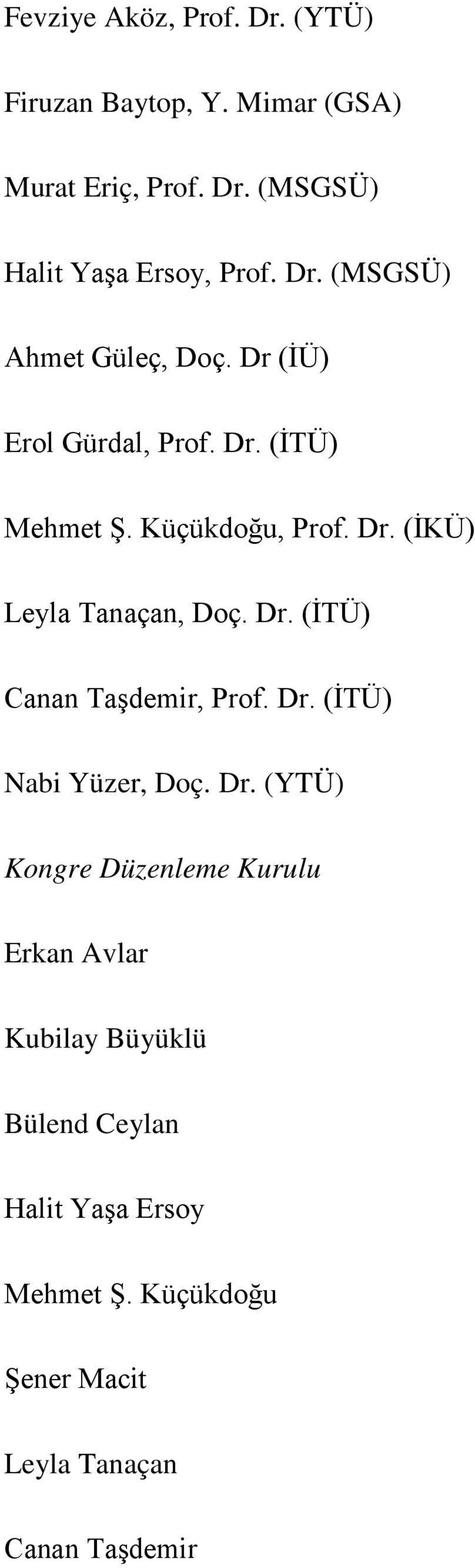 Dr. (İTÜ) Canan Taşdemir, Prof. Dr.