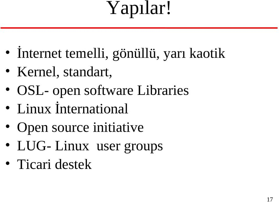 Kernel, standart, OSL- open software
