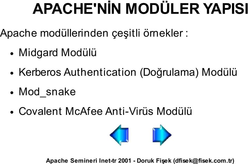 Modülü Kerberos Authentication