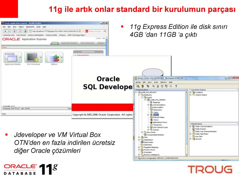 dan 11GB a çıktı Jdeveloper ve VM Virtual Box
