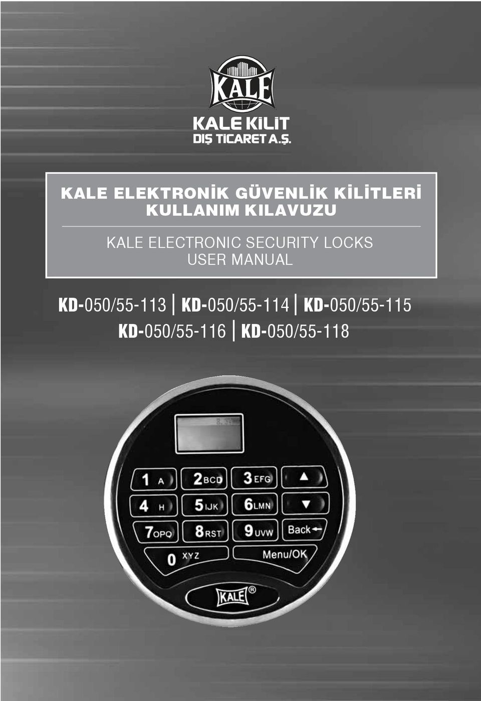 SECURITY LOCKS USER MANUAL KD-050/55-113