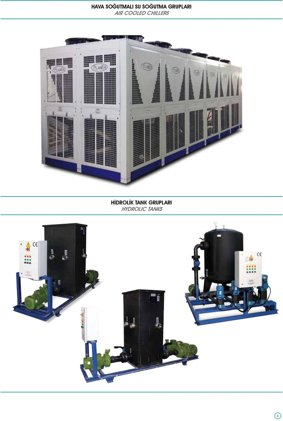COOLED CHILLERS