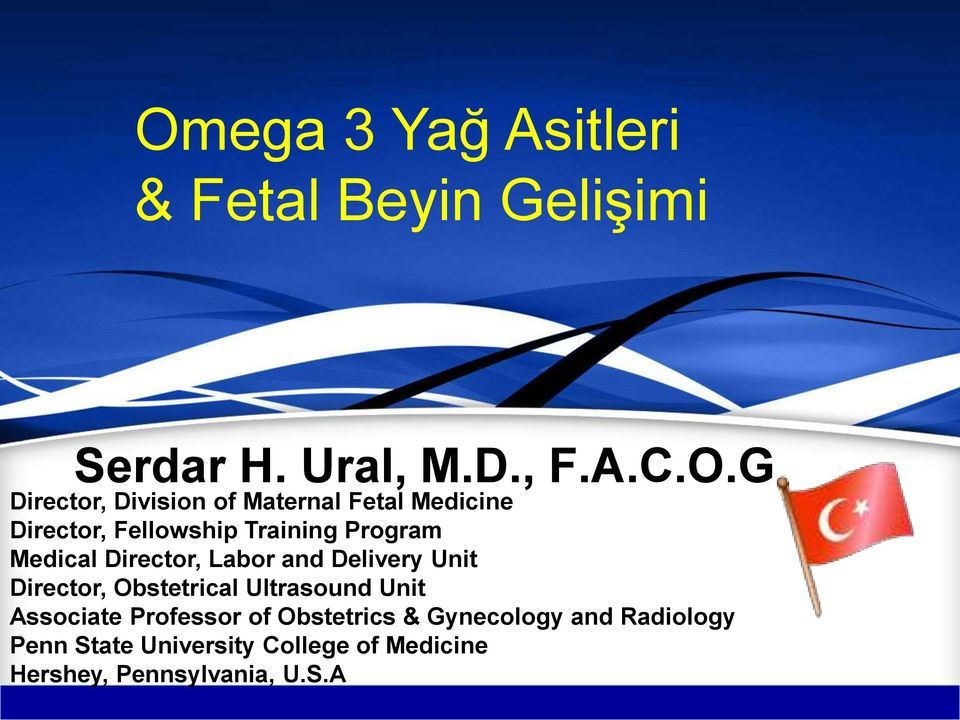 Labor and Delivery Unit Director, Obstetrical Ultrasound Unit Associate Professor of