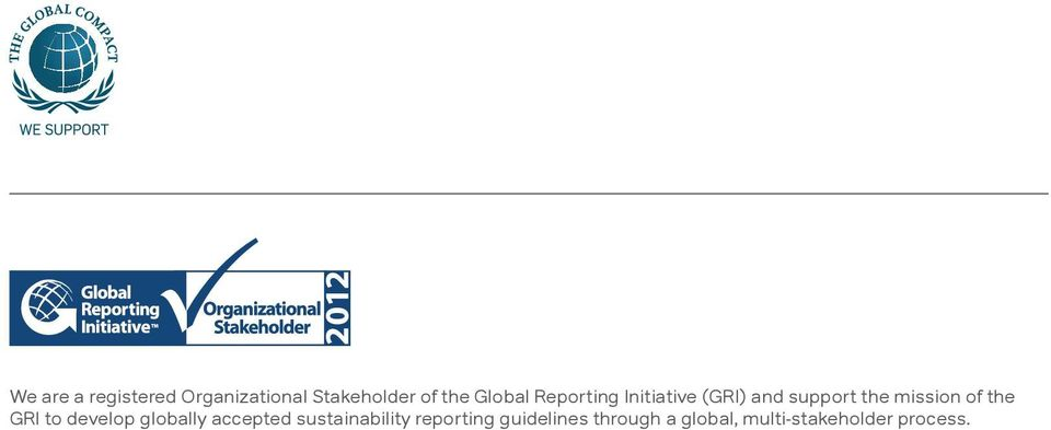of the GRI to develop globally accepted sustainability