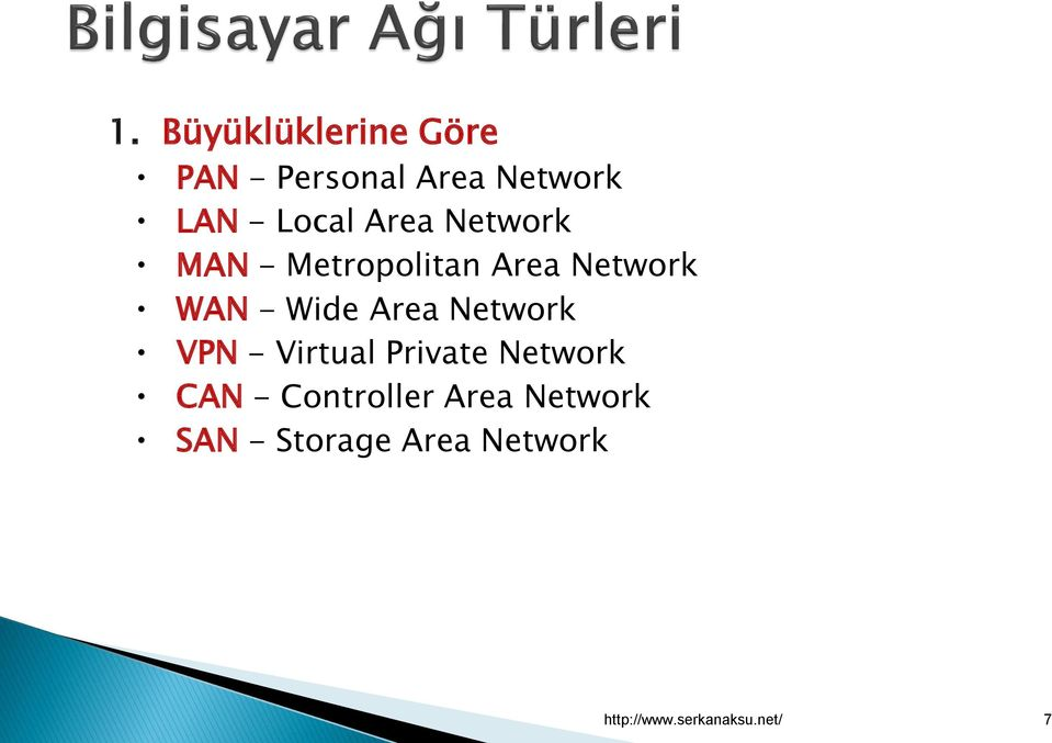Area Network VPN - Virtual Private Network CAN - Controller