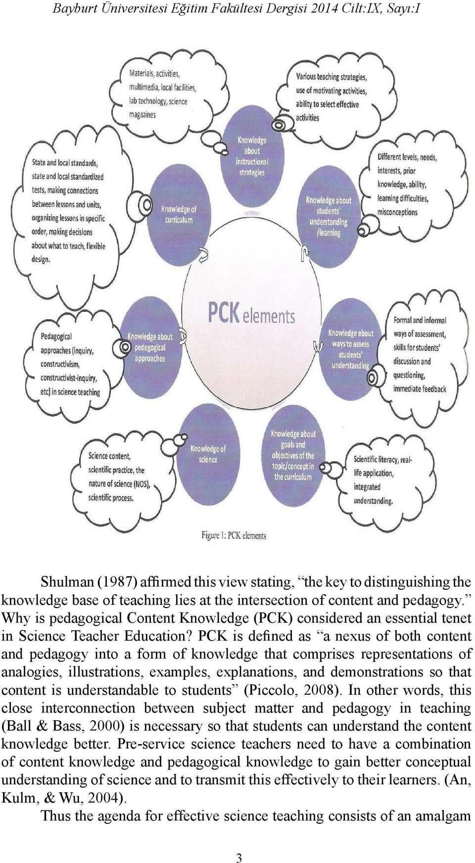 PCK is defined as a nexus of both content and pedagogy into a form of knowledge that comprises representations of analogies, illustrations, examples, explanations, and demonstrations so that content