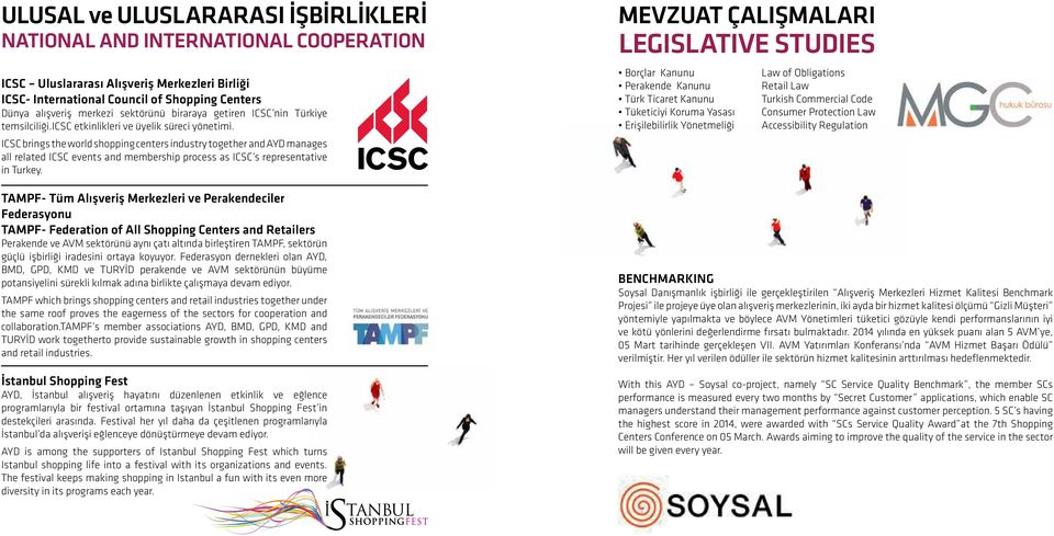 ICSC brings the world shopping centers industry together and AYD manages all related ICSC events and membership process as ICSC s representative in Turkey.